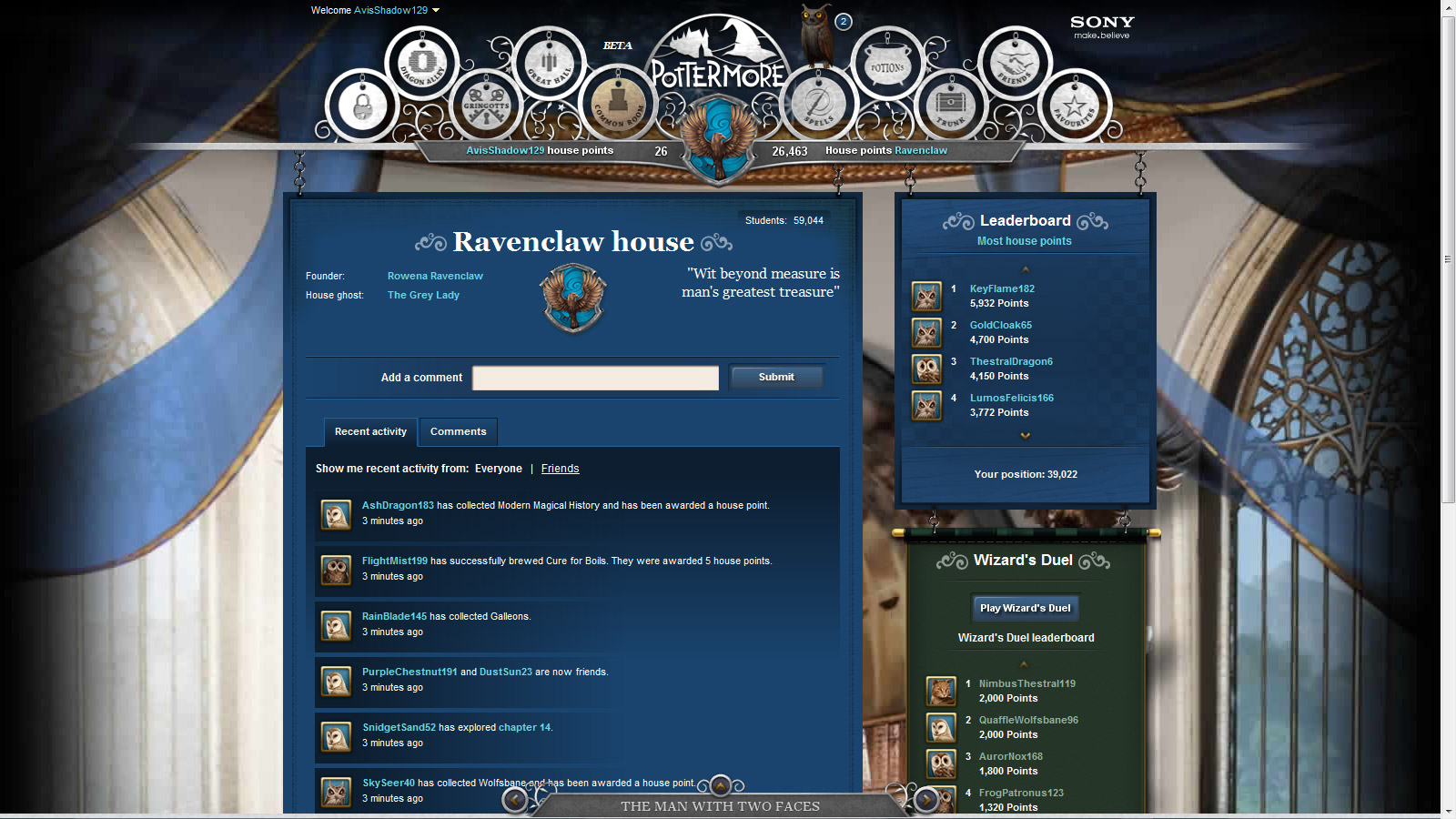 pottermore ravenclaw common room description essay